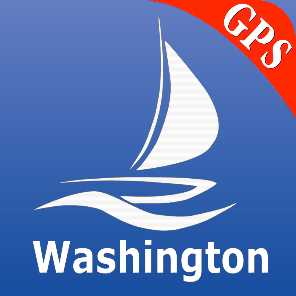 Washington nautical chart GPS: marine & lake gps waypoint, route and track for boating cruising fishing yachting sailing diving